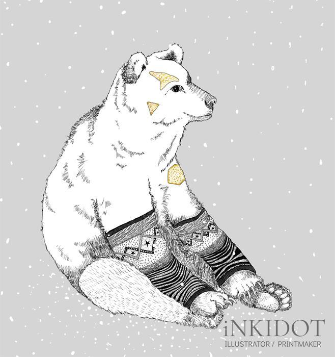 'Erik' - Erik the polar bear loves his leg warmers.