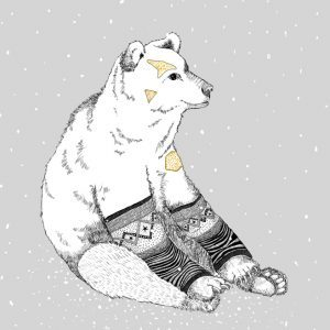 'Erik' - Erik the polar bear loves his leg warmers.